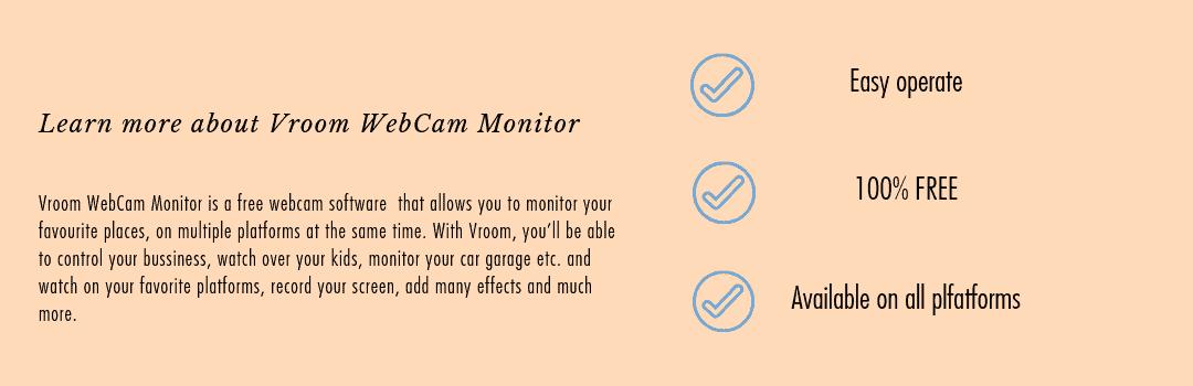 Vroom Website | Webcam Security Monitoring Software